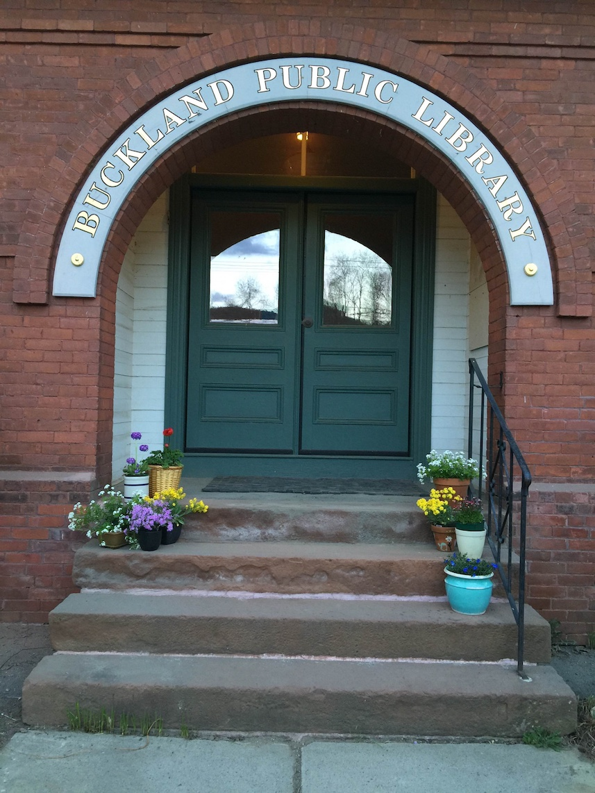 The front door of the library